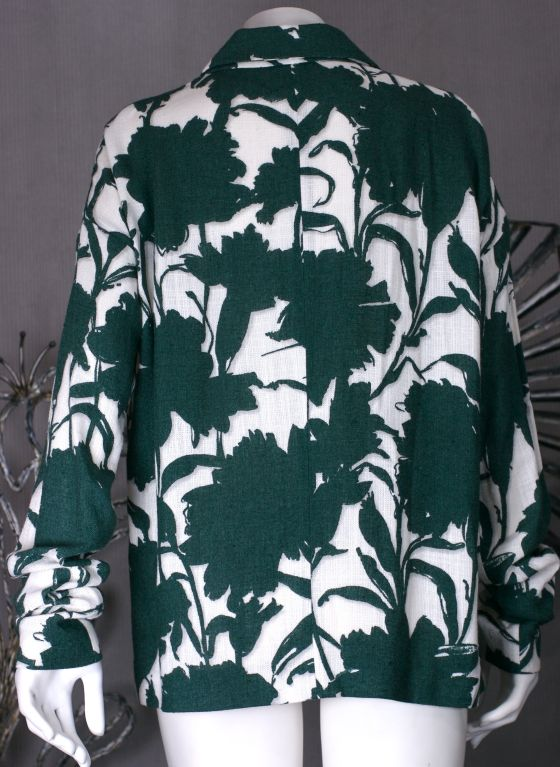 Summer Prada Carnation Shadow Print Jacket image 4