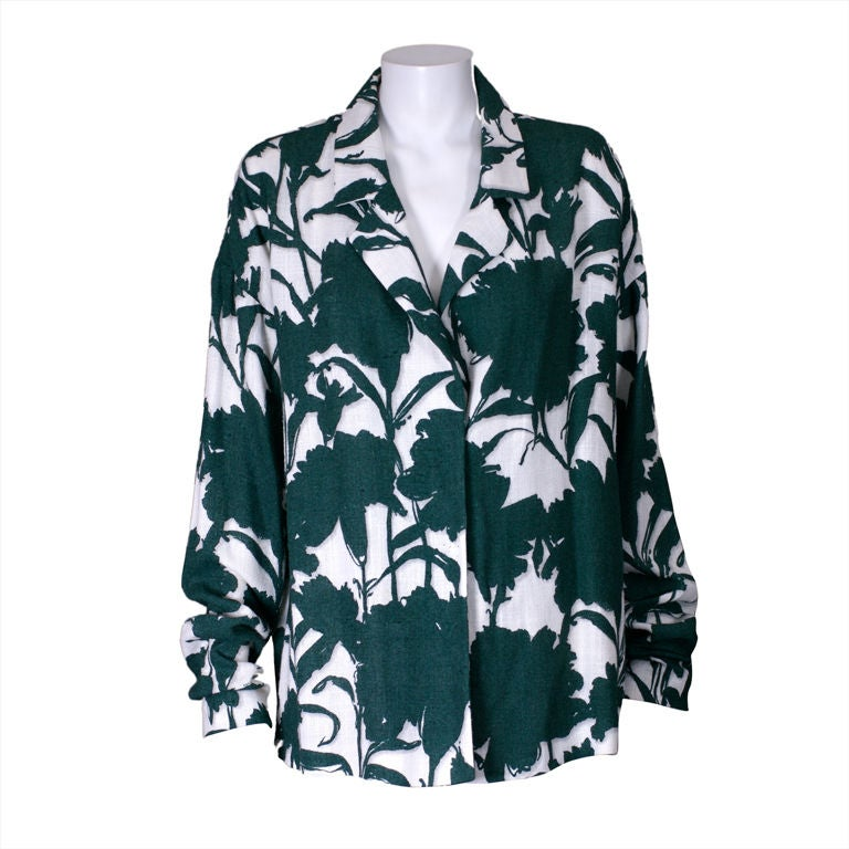 Summer Prada Carnation Shadow Print Jacket