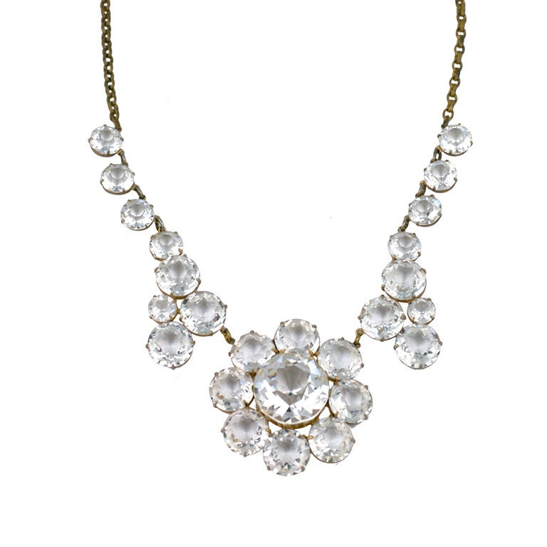 dramatic sparkling 1920s necklace at 1stdibs