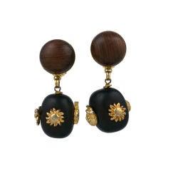Dominique Aurientis Wood Earrings
