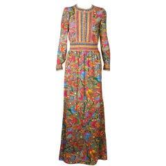 Italian Wool Jersey Print Dress