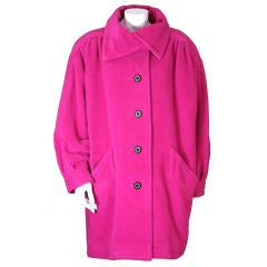 Yves Saint Laurent Fushia Wool Coat