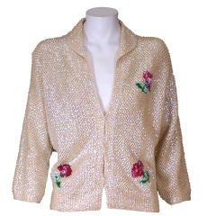 Sequinned Rose Sweater