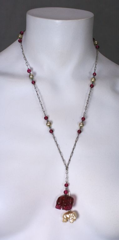 Deco Elephant  Pendant Necklace 3