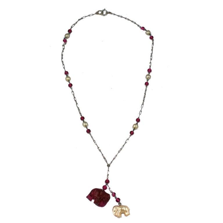 Deco Elephant  Pendant Necklace 1