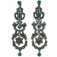 Edwardian Marcasite and Paste set Earrings