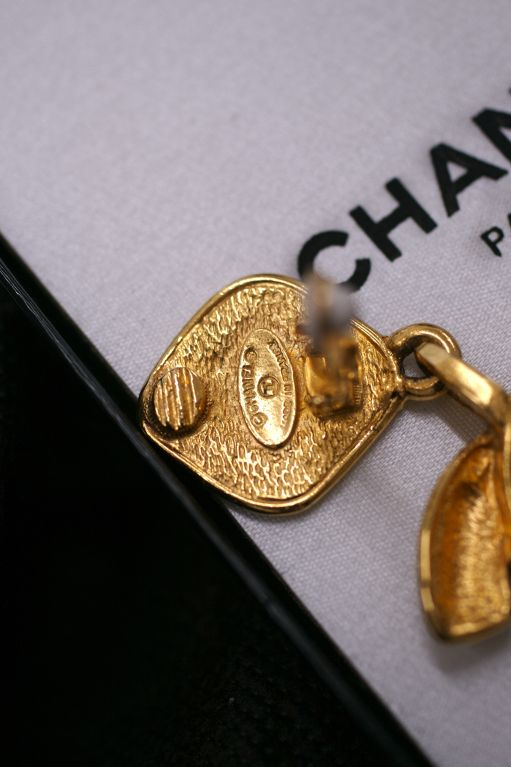 Chanel Quilted CC Logo Earrings 3