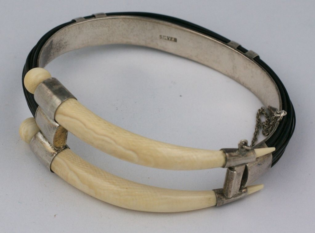 pre hinged genuine bangle jewelry ban ivory bracelet part elephant index bangles four