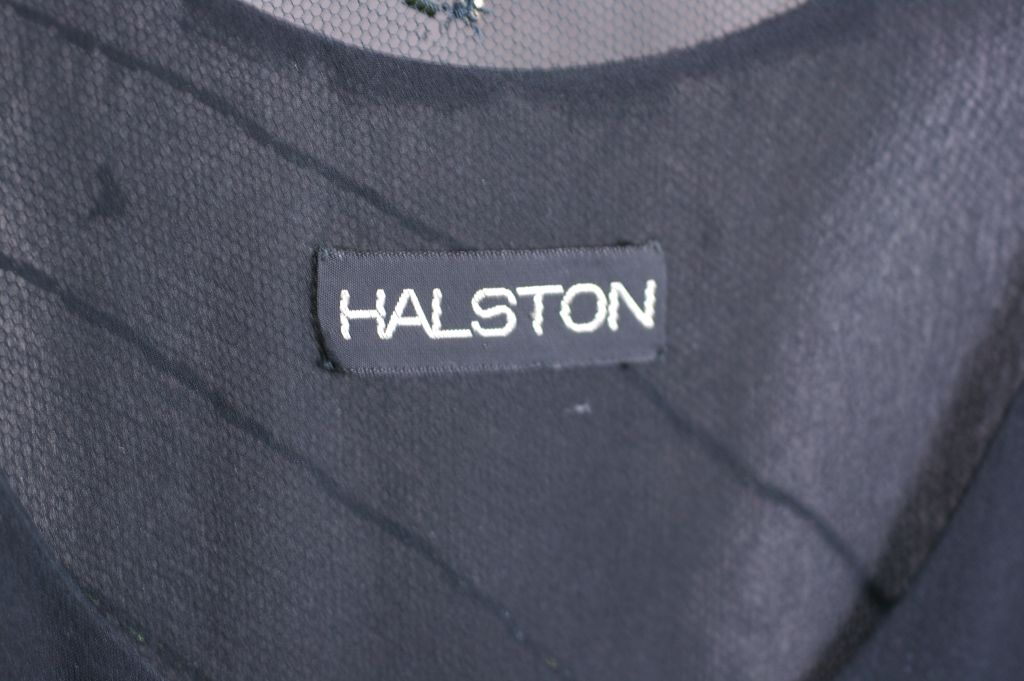 Halston Chiffon Tank and Beaded Jacket In Excellent Condition For Sale In Riverdale, NY