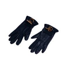 Hermes Forest Green Calf Gloves
