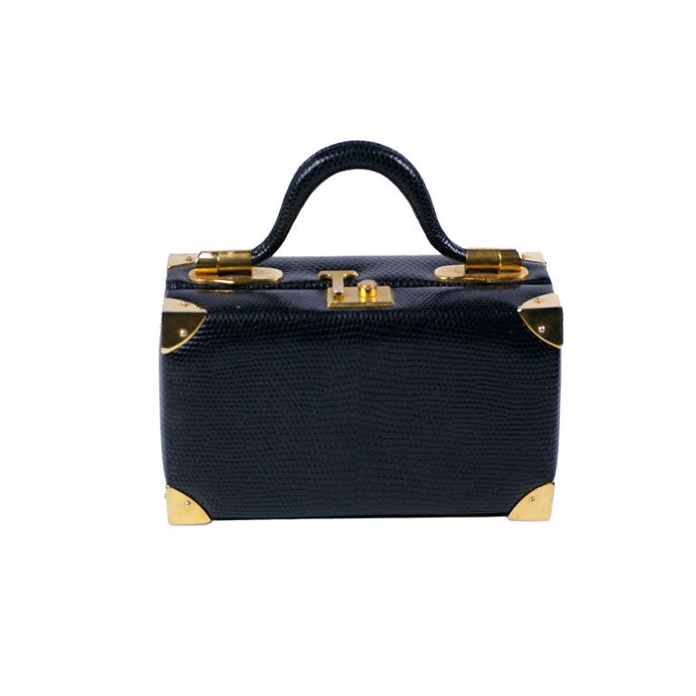Judith Leiber Snake Mini Suitcase For Sale