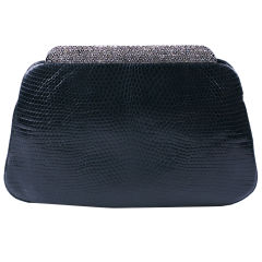 Judith Leiber Snake and Pave Clutch