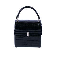 Martha Alligator and Pave Mini Box Bag