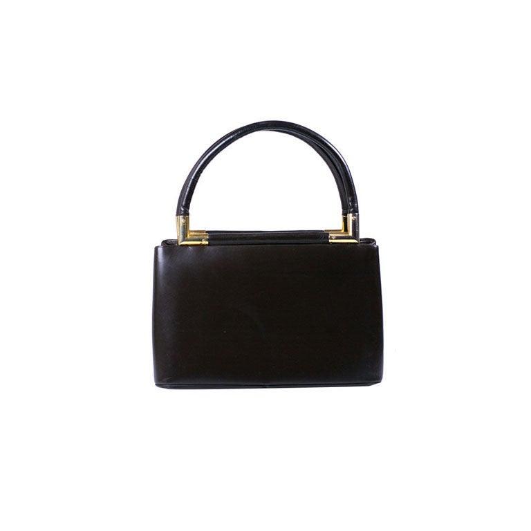 Judith Leiber brown Calf Bag