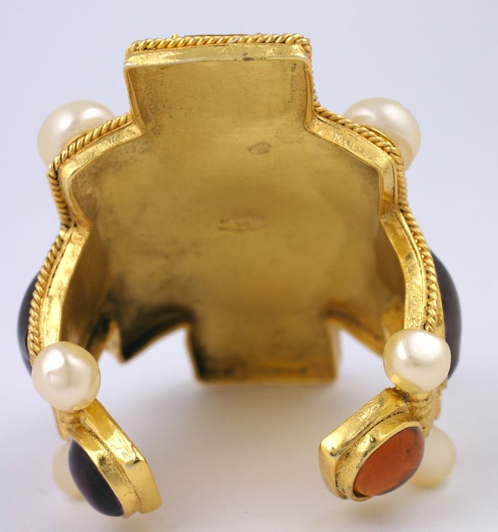 Chanel Cruciform Iconic Cuff In Excellent Condition For Sale In Riverdale, NY