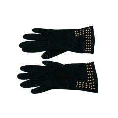 Bottega Veneta Studded Suede Gloves