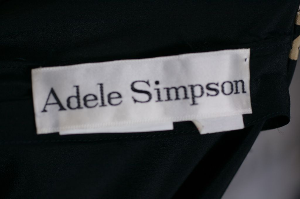 Adele Simpson Beaded Silk Crepe Gown For Sale 1