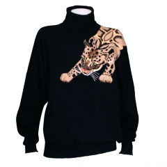 Wonderful Leopard Cashmere Sweater