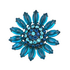 Schreiner  Blue Flower Brooch