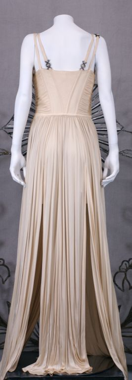 Women's Versace Quilted Jersey Bustier Gown For Sale