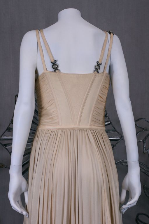 Versace Quilted Jersey Bustier Gown For Sale 1