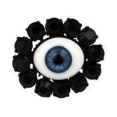 "Rodarte Blue ""Eye"" Ring"