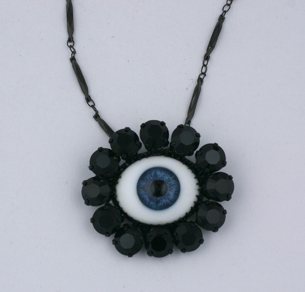 "Women's Rodarte Blue ""Eye"" Brooch, Japanese Horror Collection For Sale"
