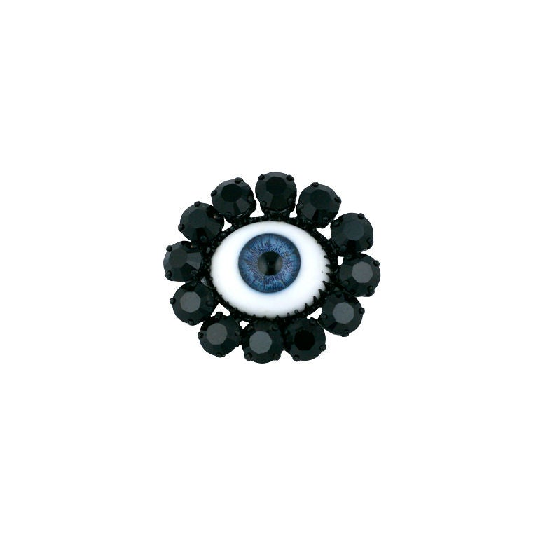 "Rodarte Blue ""Eye"" Brooch, Japanese Horror Collection For Sale"