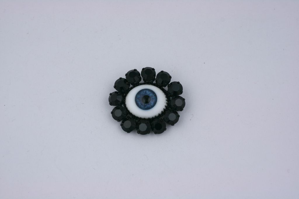 "Rodarte Blue ""Eye"" Brooch, Japanese Horror Collection For Sale 2"