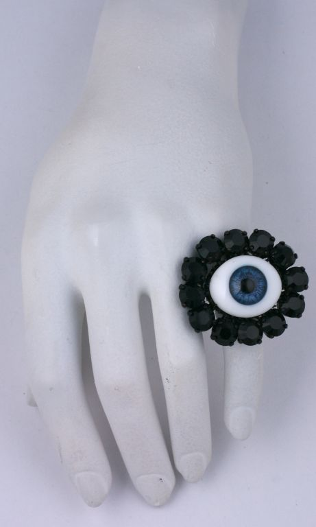 """Rodarte Blue """"Eye"""" Ring In As New Condition For Sale In Riverdale, NY"""