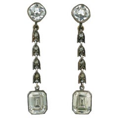 Deco Paste Earring with Emerald Cut Drops