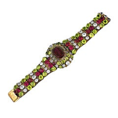 Lovely Hobe Colored Crystal Bracelet