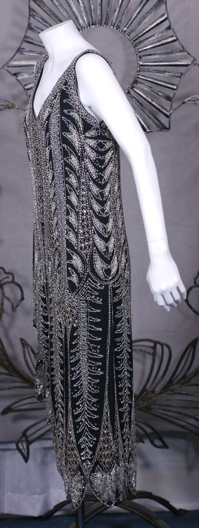 Oleg Cassini Beaded Flapper Style Dress 2
