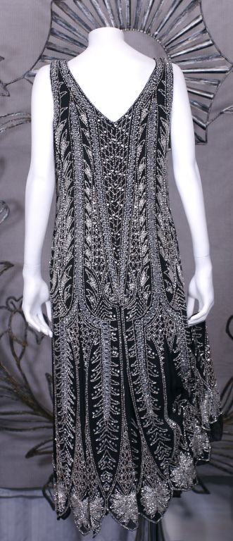 Oleg Cassini Beaded Flapper Style Dress 3