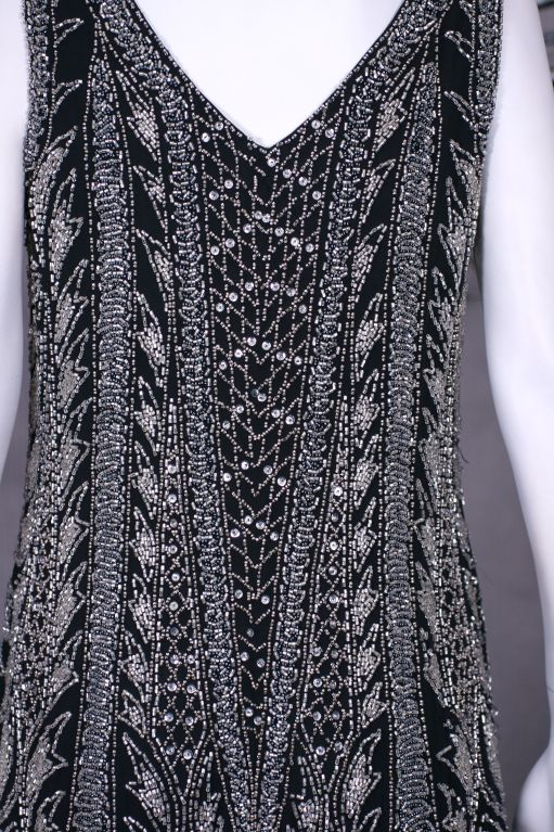 Oleg Cassini Beaded Flapper Style Dress 6