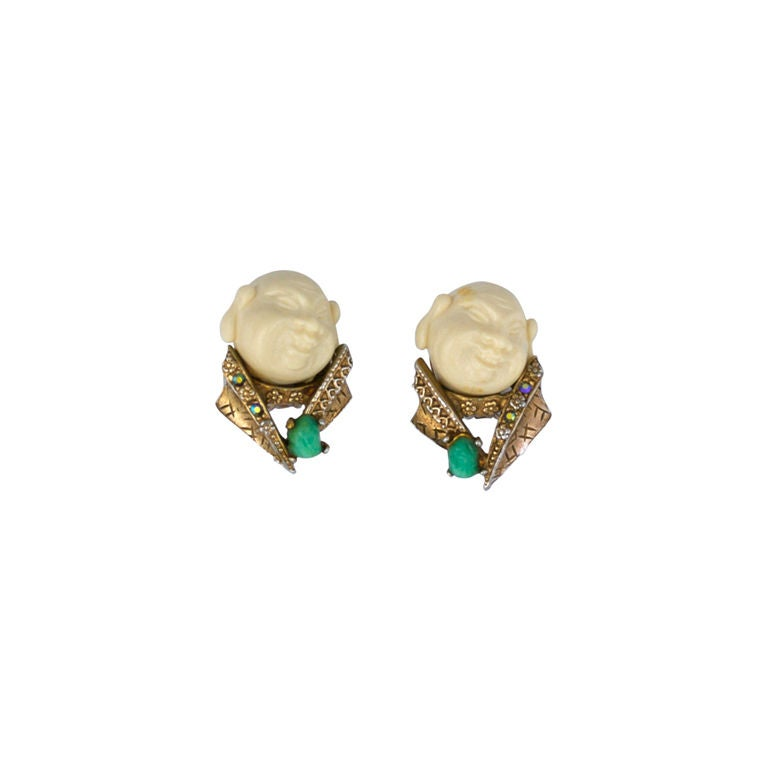 Har Earrings, Circa 1950s For Sale