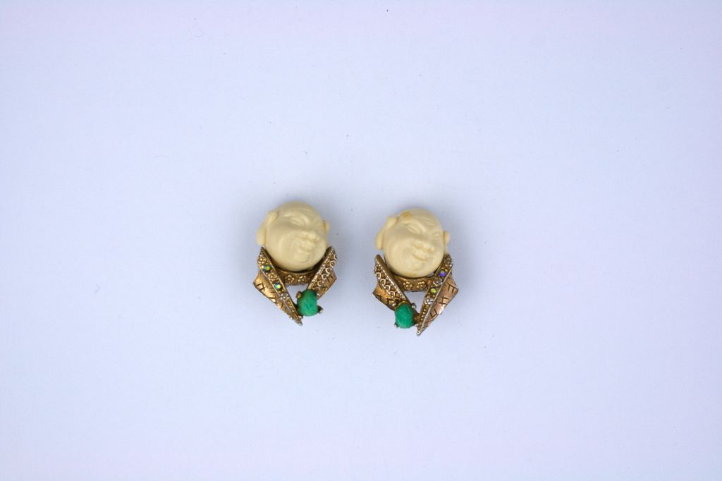 Har Earrings, Circa 1950s In Excellent Condition For Sale In Riverdale, NY