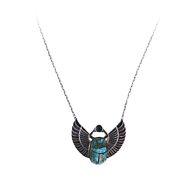 egyptian scarab necklace - photo #9