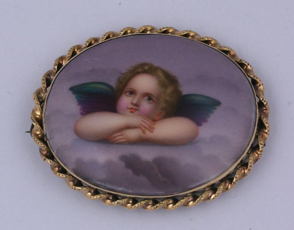 Victorian Cherub Brooch 1880s 3