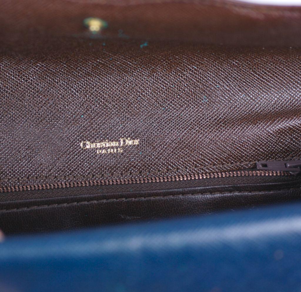 Brown Dior Tri Color Calf Clutch For Sale
