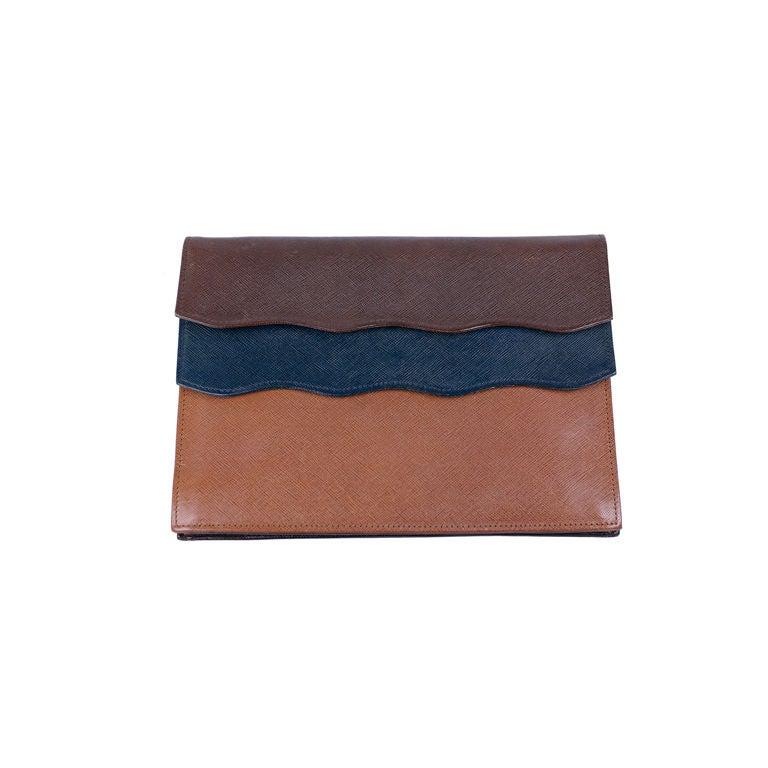 Dior Tri Color Calf Clutch