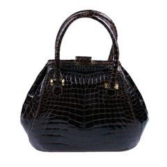 Unusual Center Cut Alligator Bag