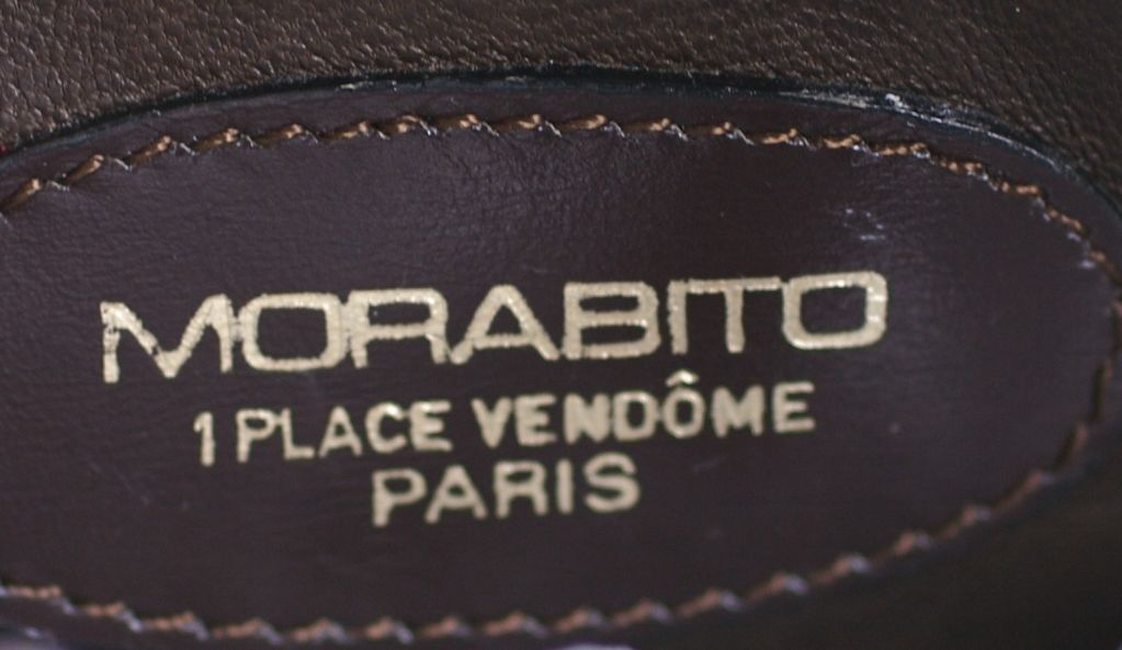 Morabito Paris Center Cut Mini Alligator Duffle For Sale