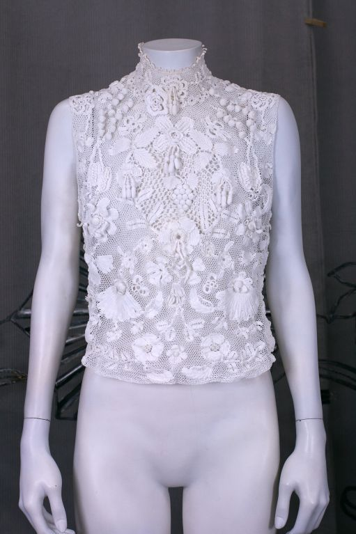 Turn of the Century Irish Crochet Blouse 4