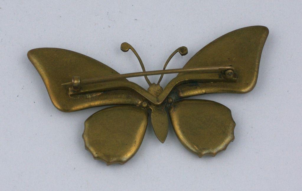 Victorian Butterfly Wing Brooch 2