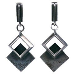 Lobel Modernist Sterling Earrings