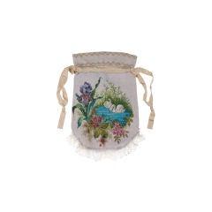 Victorian Microbead Figural Swan Bag