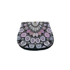 Morabito Beaded Foldover Clutch