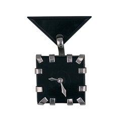 Deco Bakelite Clock Brooch