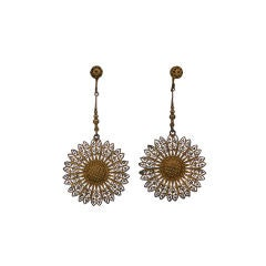 Gilt Filigreed Victorian Earrings